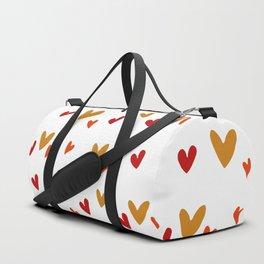 Hearts Pattern Duffle Bag