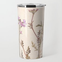 Pink floral design Travel Mug
