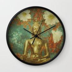 Retro Buddha Wall Clock