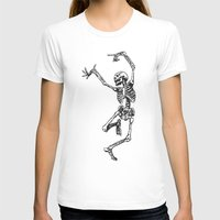tupac T-shirts featuring Dancer Skeleton by Hottest Dog In Town