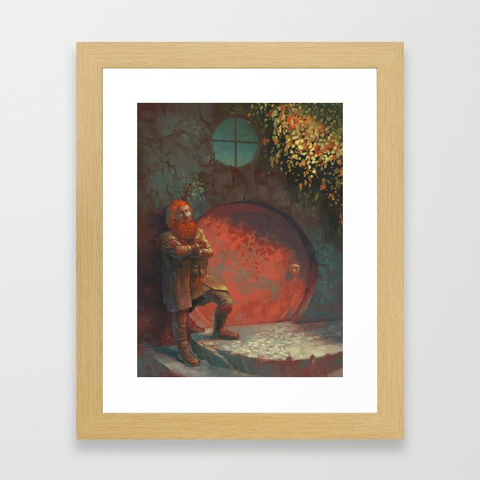 Berned Framed Art Print