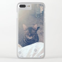wake up, human Clear iPhone Case