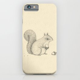 Monochrome Squirrel iPhone Case