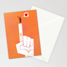 the point is my heart Stationery Cards