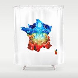 France - European Map by Sharon Cummings Shower Curtain