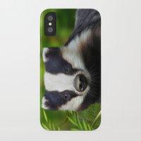 badger iPhone & iPod Cases featuring Badger by Julie Hoddinott