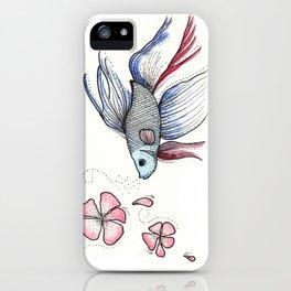 Japanese Fighting Fish iPhone Case