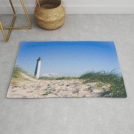Nantucket Beach Lighthouse Rug