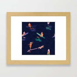 Surf goddes Framed Art Print
