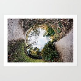[N]Ever Green #2 The Rabbit Hole. Art Print