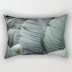 Banana Leaves Tropical Art Rectangular Pillow