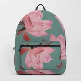 Falling Lotus -Teal Backpack