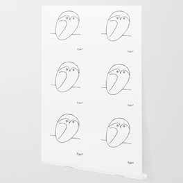 The Owl, Pablo PIcasso sketch drawing, line Design Wallpaper