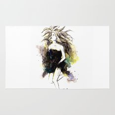 Watercolor Girl Rug