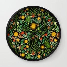 Sunshine Botanical - Dark Version Wall Clock