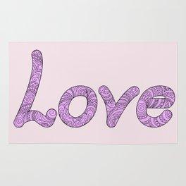 violet zen love Rug