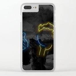 Nuclear Vault Boy Clear iPhone Case