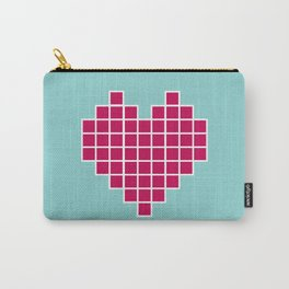 Pixelated Heart Carry-All Pouch