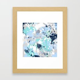 Riley - abstract gender neutral nursery home office dorm decor art abstract painting Framed Art Print