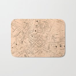 Vintage Map of Trenton NJ (1849) Bath Mat