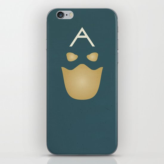 Minimalist Captain America iPhone & iPod Skin