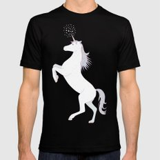 Unicorn Black Mens Fitted Tee X-LARGE