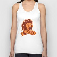 lions Tank Tops featuring Lions Gryffindor by Fresco Umbiatore