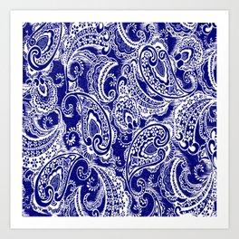 paisley batik Art Print
