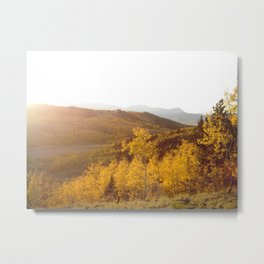 The Golden Fire Just Before Sunset Metal Print