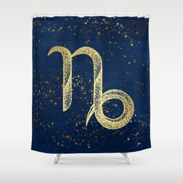 Capricorn Zodiac Sign Shower Curtain