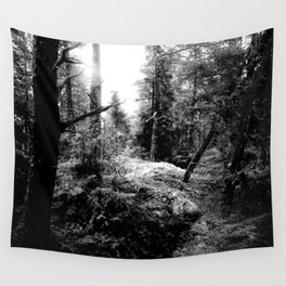 Fall Forest Morning Wall Tapestry