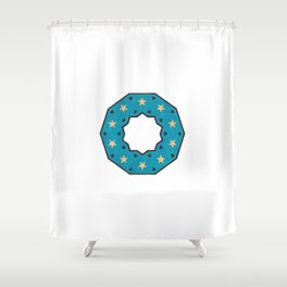 Geometric Pattern Shower Curtain