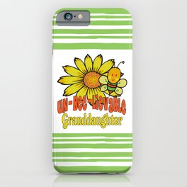 Unbelievable Granddaughter Sunflowers and Bees iPhone Case