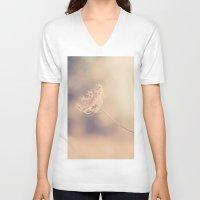 alone V-neck T-shirts featuring Alone by Yolanda Méndez