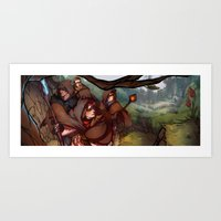 dragon age Art Prints featuring Dragon Age by DustyLeaves