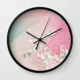 Pastel sparkling diamonds  Wall Clock