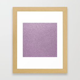 Modern abstract lavender lilac girly glitter Framed Art Print