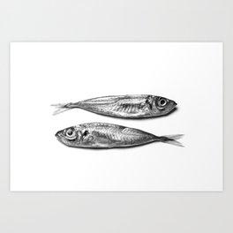 Mackerels Art Print