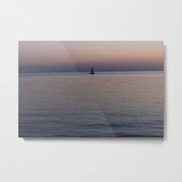 Tropical sea sunset Metal Print
