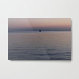 Tropical sea sunset Metal Print