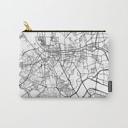 Seoul Map, South Korea - Black and White Carry-All Pouch