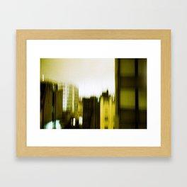 Looking through the broken mirror. Framed Art Print