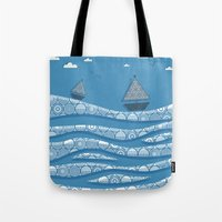 boats Tote Bags featuring Boats by Matt Andrews