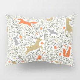 Woodland Animals Folk Pillow Sham
