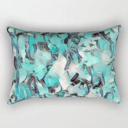 Confetti Caribbean Aqua Rectangular Pillow