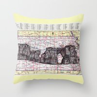 kansas Throw Pillows featuring Kansas by Ursula Rodgers