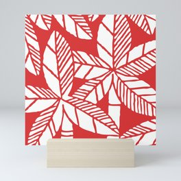 Tropical Palm Tree Composition Red Mini Art Print