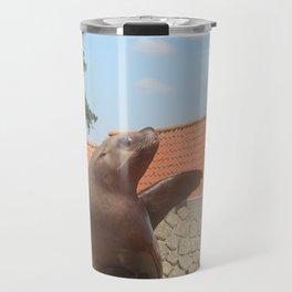 Seal Waving Travel Mug