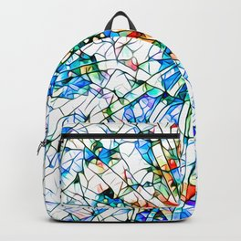 Glass stain mosaic 2 star - by Brian Vegas Backpack