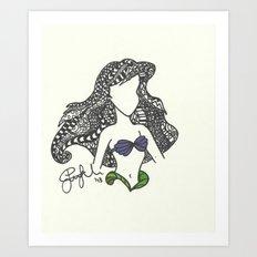 Ariel Zen Tangle Art Print